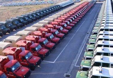 وزارة الدفاع تستلم 278 شاحنة متعددة المهام من شركة أي أم أس /أم بي بالرويبة