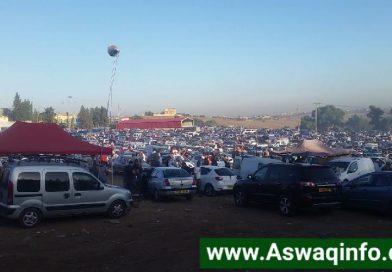 إكتضاض رهيب للسيارات والباعة اليوم في سوق تيجلابين للسيارات