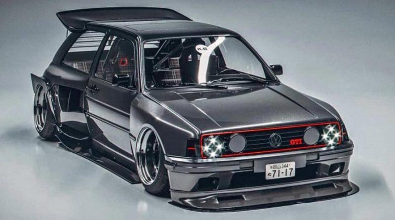 حلم سيارة فولكسفاغن غولف الجيل الثاني بتصميم خاص أصبح حقيقة